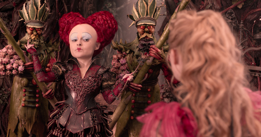 Alice (Mia Wasikowska) returns to the whimsical world of Underland and encounters Iracebeth, the Red Queen (Helena Bonham Carter) in Disney's ALICE THROUGH THE LOOKING GLASS, an all-new adventure featuring the unforgettable characters from Lewis Carroll's beloved stories.