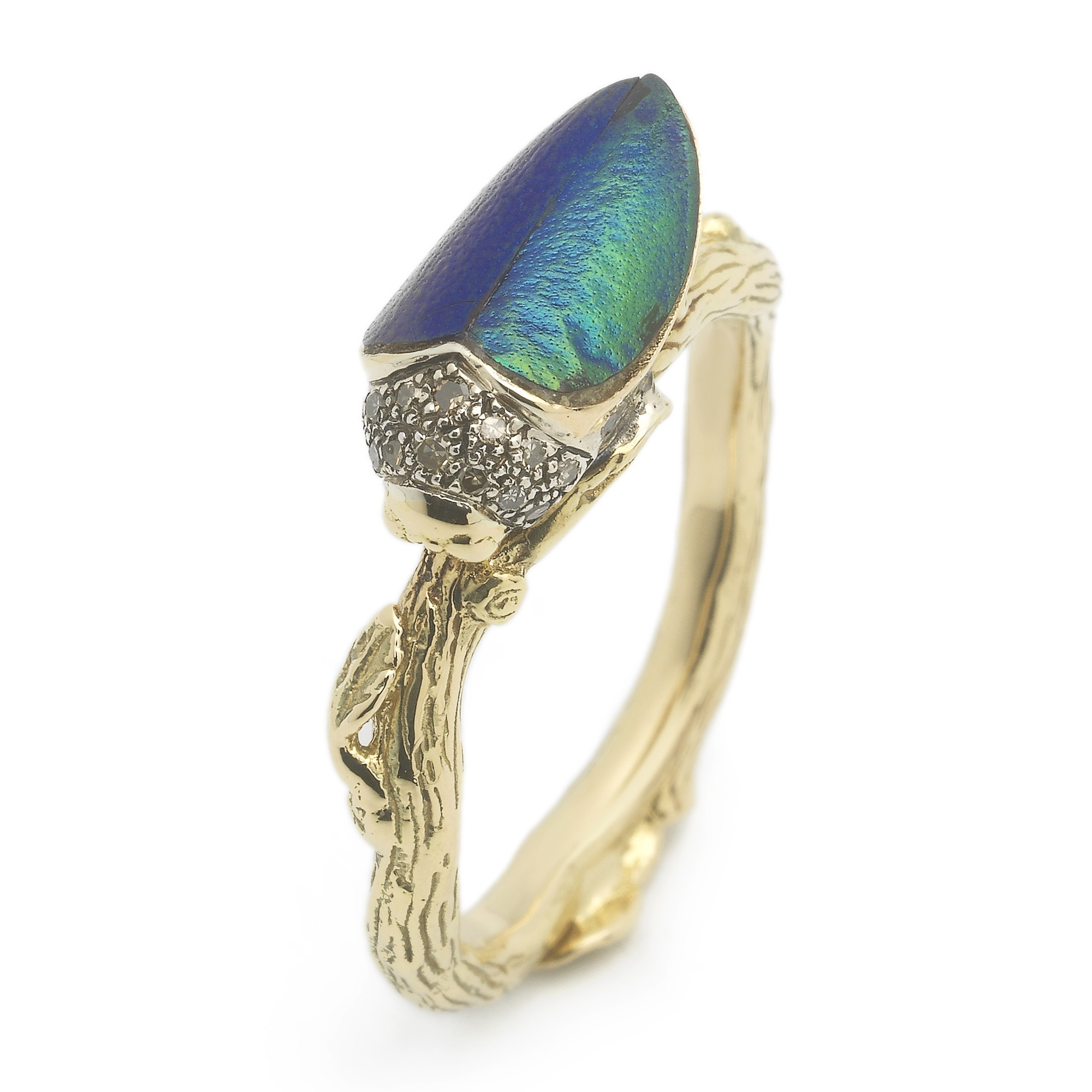 bibi-van-der-velden-scarab-collection-stackable-scarab-ring-sterling-silver-18ct-yellow-gold-scarab-wing-and-brown-diamonds