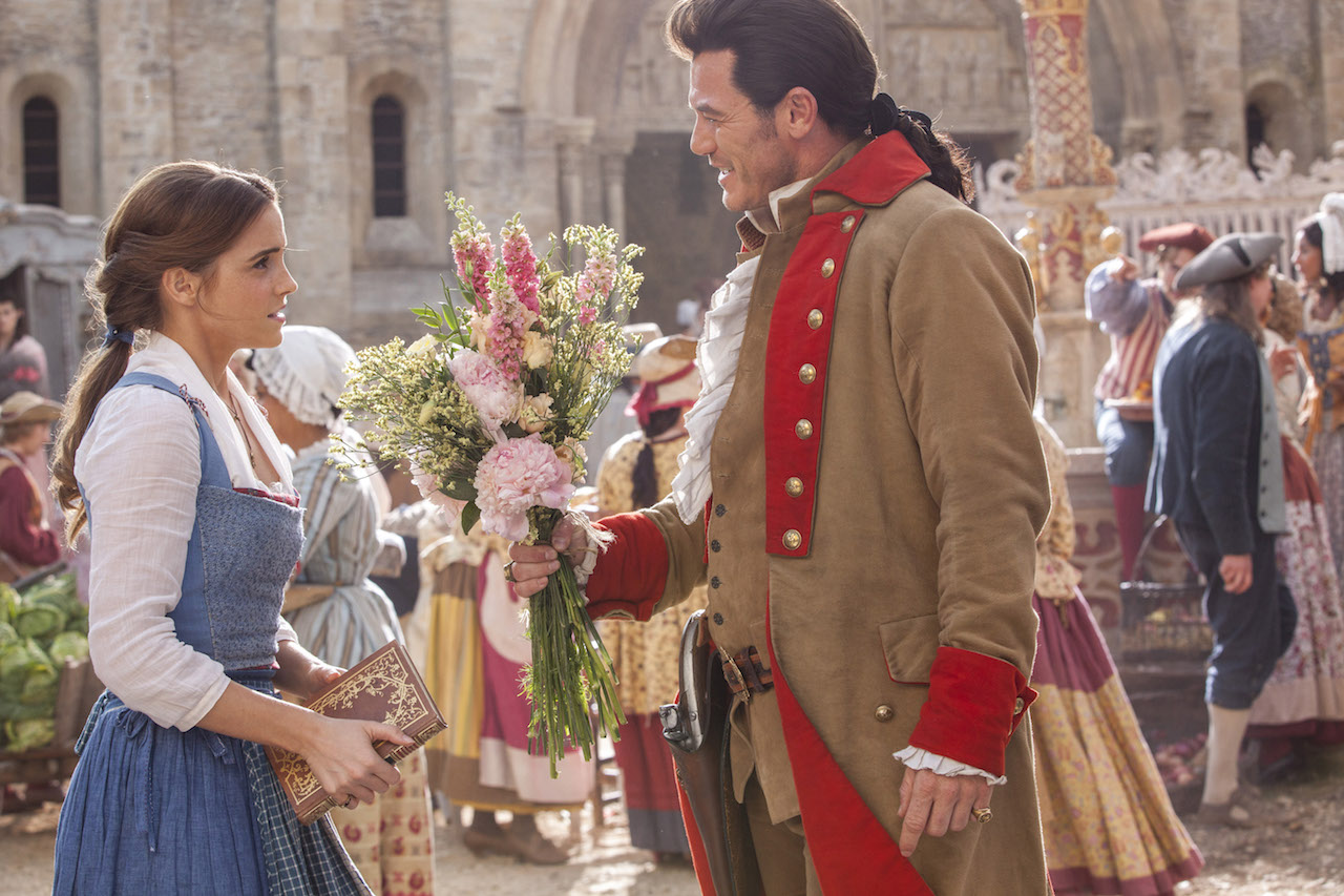 Gaston (Luke Evans) is relentless in his pursuit of Belle (Emma Watson) in Disney's BEAUTY AND THE BEAST, a live-action adaptation of the studio's animated classic directed by Bill Condon which brings the story and characters audiences know and love to life.