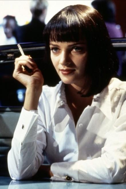 """Uma Thurman în """"Pulp Fiction"""""""